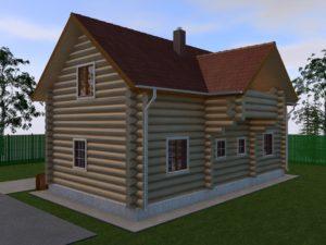 Дом из бревна 144м2