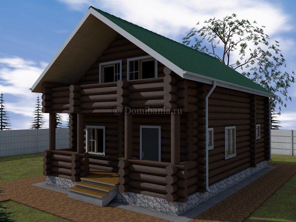 дом из бревна проект 7х11