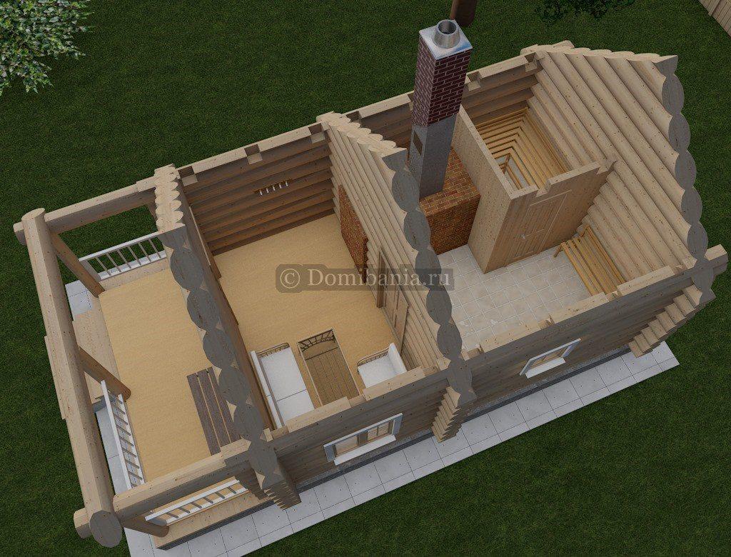 проект баня 4х6