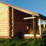 дом-баня из рубленного бревна