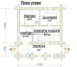 план бани 4х5