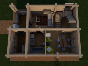 дом из бревна 6х8