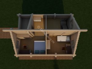 дом 6х8 из бревна